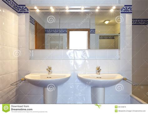 bathroom sink mirror bathroom sink and mirror stock photo image of tiled