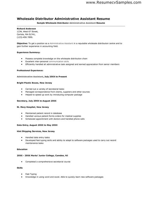sample cover letter administrative assistant resume vesochieuxo