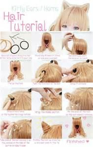 tuto coiffure oreille de chat kawaii cheveux