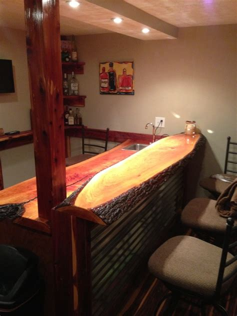 Creative Bar Tops Risinger Live Edge Cherry Bar Top Bagdad Lumber