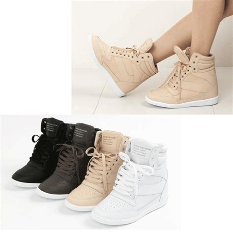 epicsnob womens shoes high top wedges heel lace up