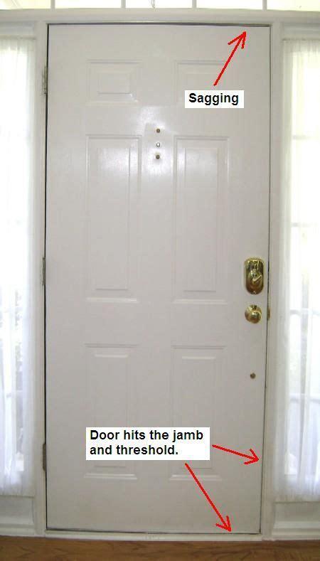 sagging exterior door how to fix it how to door