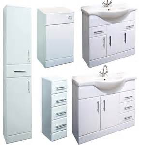 White Bathroom Furniture Uk Bathroom Furniture High Gloss White Laundry Storage Drawer Vanity Unit Cabinets Ebay