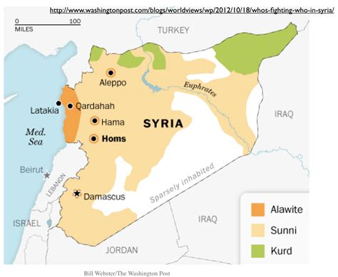 syria map if the borders of iraq and syria were redrawn upon
