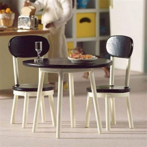 dolls house cafe dolls house cafe style table two chairs scale 1 12 rb modelsrb models