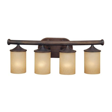 bronze bathroom vanity lights shop millennium lighting 4 light rubbed bronze standard