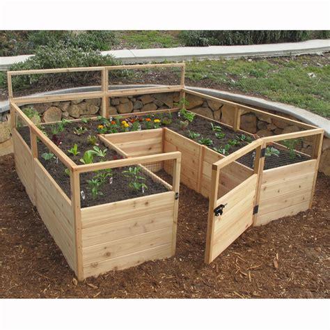 outdoor living today rectangular raised garden wayfair