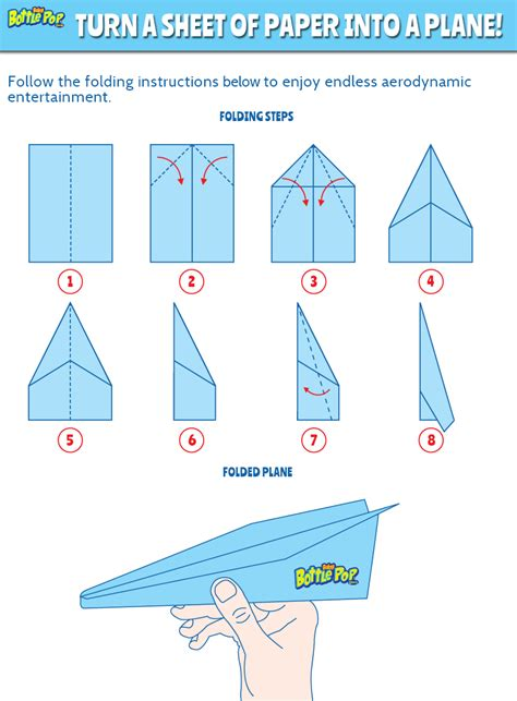 Directions For A Paper Airplane - 4 best images of paper airplane templates printable for