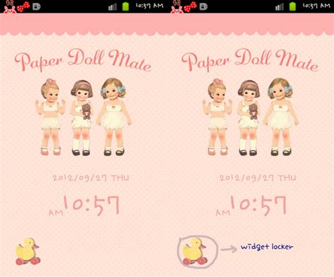 themes for android doll lovely like blossom paper doll mate theme for your android