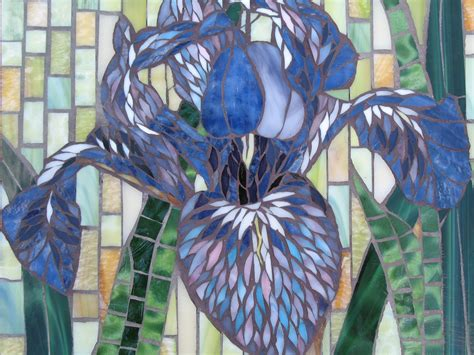 mosaic iris portrait of the iris as a young bloom tanya schreiber