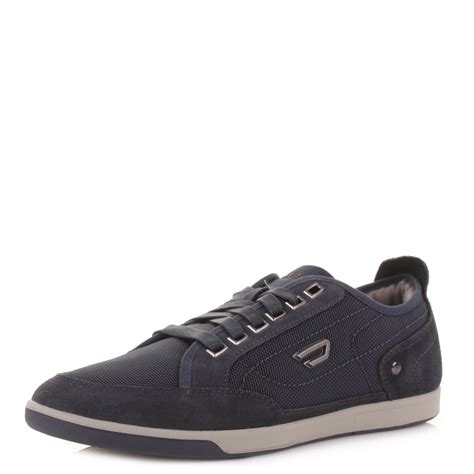 diesel sneakers mens diesel pits indigo navy casual lace up fashion