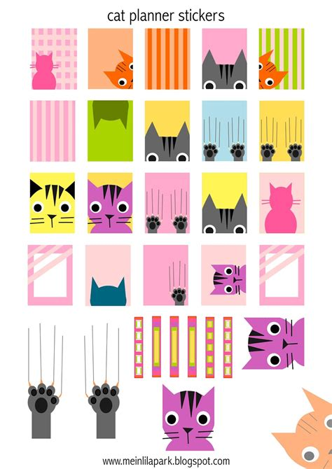 printable cat stickers free printable cat planner stickers agendasticker