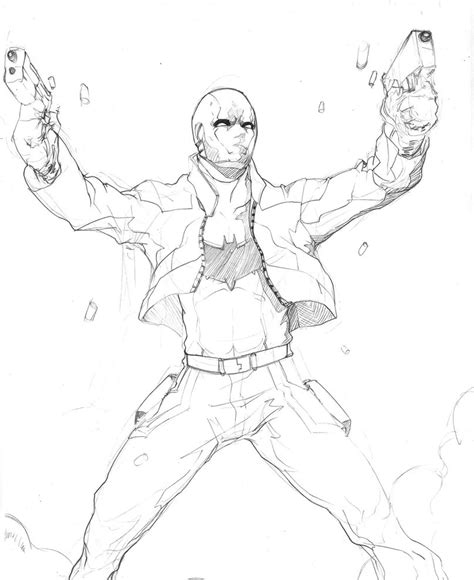 batman red hood coloring pages red hood sketch by animixter on deviantart
