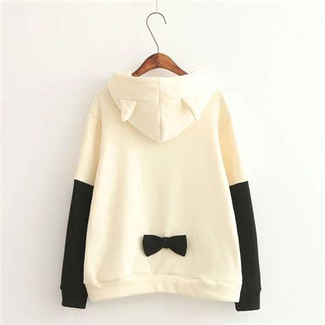 Hoodie Cat Abu 3 Wisata Fashion Shop japanese cat ears students hooded wool coat 183