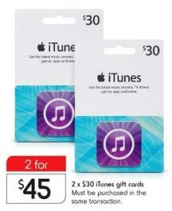 Kmart Itunes Gift Card - expired 2 x 30 itunes gift cards for 45 at kmart save 25 gift cards on sale