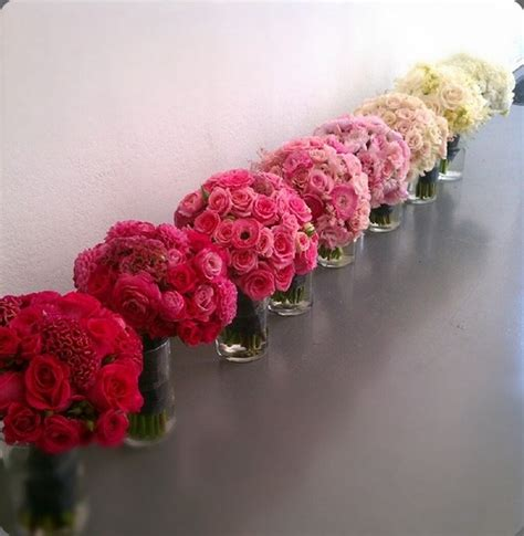 Flower Arrangements For Bridesmaids by 198 Best Ombr 233 Weddings Images On