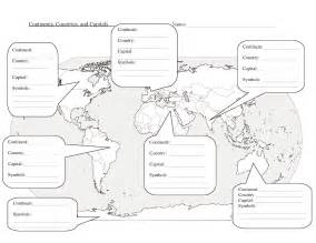 5 best images of world map worksheet printable world map