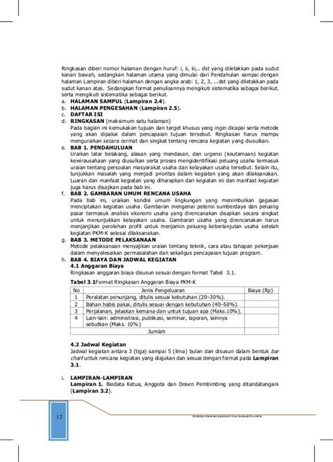 format makalah dikti panduan pkm dikti 2014