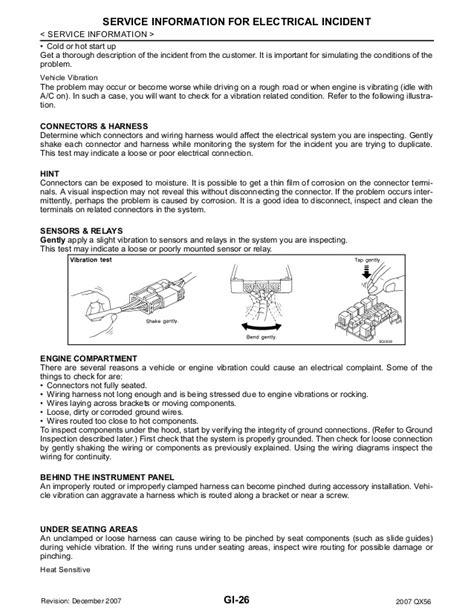 service and repair manuals 2012 infiniti qx56 engine control 2007 infiniti qx56 service repair manual