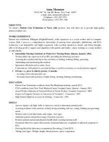 Patient Service Technician Sle Resume by Auto Tech Resume Skills Bestsellerbookdb
