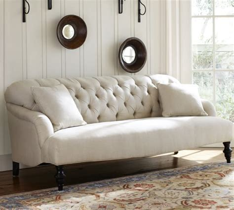 potterybarn sofas clara upholstered apartment sofa pottery barn
