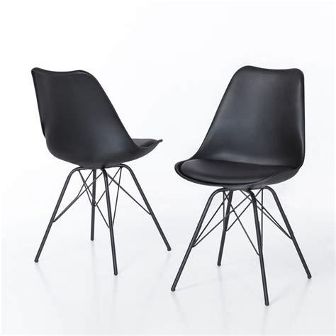 Stuhl Oslo by 2er Set Stuhl Oslo Sitzschale In Schwarz Und Gestell In