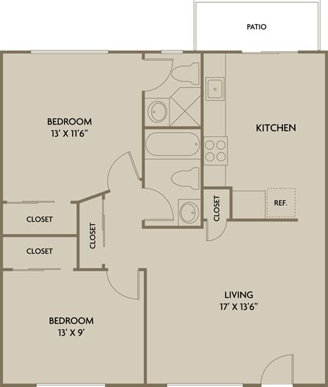 2 bedroom 2 bathroom 2 bedroom and bathroom house plans