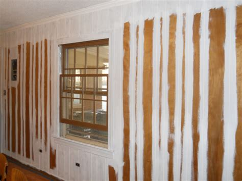 how to paint over wood paneling updating wood paneling just fill in the cracks with