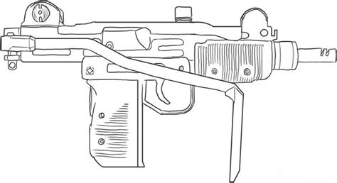 coloring pages of a gun gun coloring pages the hand gun machine gun etc