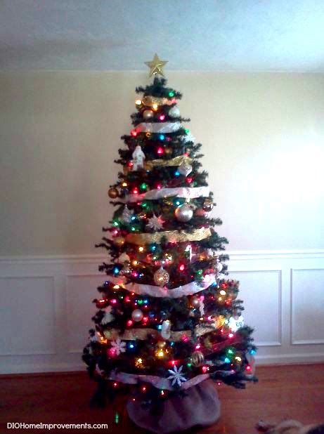 white christmas tree with multicolor lights white christmas tree multicolor lights festival collections