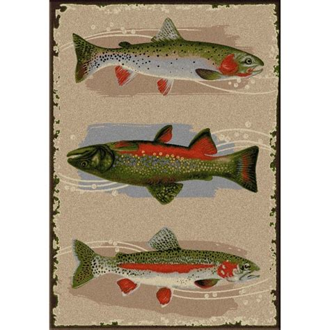 fishing rug pebble creek fish area rugs