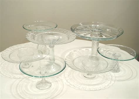 56 Wedding Cake Plates And Stands, 3 Silver Cake Stands