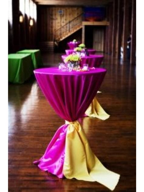 round cocktail table rental tall