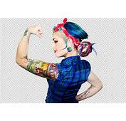 Tattoo Girl Isolated Transparent Background