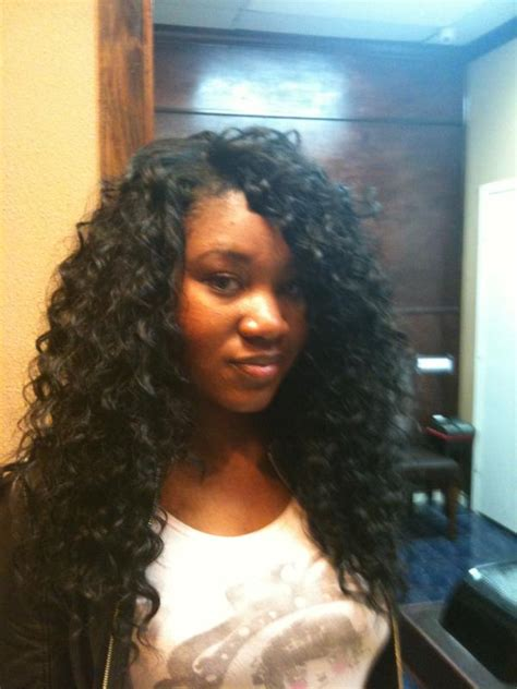 sewin curly hair wet wave full head wet and wavy sew in www pixshark com images