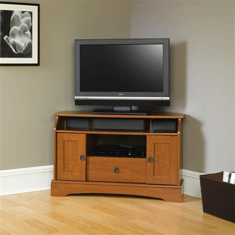 tv stand with cabinet doors furniture oak corner tv cabinet with doors in