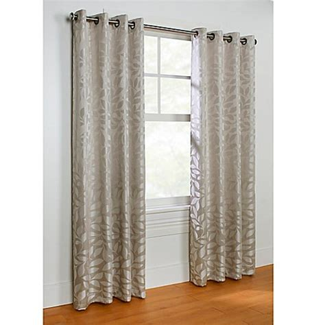 leaf pattern grommet curtains buy commonwealth home fashions hammered leaf 63 inch