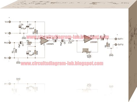 integrated circuit for lifier pre lifier integrated circuit lm358 dual op circuits diagram lab