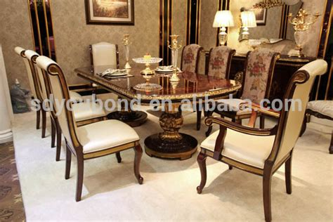 0063 solid wood antique dining room set italian style