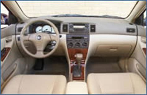 Toyota Corolla 2002 Interior by 2002 Toyota Corolla Review Specs Buying Guide Price Quote
