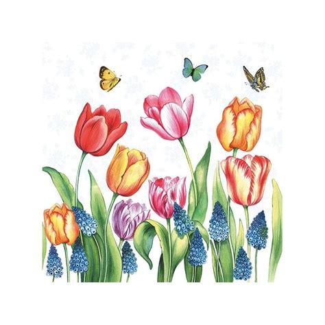 Collagen La Tulipe by 4 Serviettes En Papier D 233 Coupage Collage 33 Cm Tulipe Et