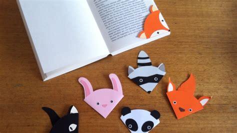 Cuteness Paper Bookmark Set Pembatas Buku Bahan Kertas how to make a animal bookmark diy crafts tutorial guidecentral
