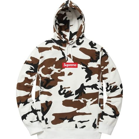 wtb cow camo box logo hoodie in m supremeclothing