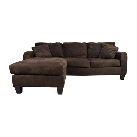 Cindy Crawford Bailey Microfiber Chaise Sofa Articles With Microfiber Sofa With Chaise Lounge