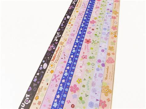 Lucky Origami Paper Strips - origami lucky paper strips lovely floral designs