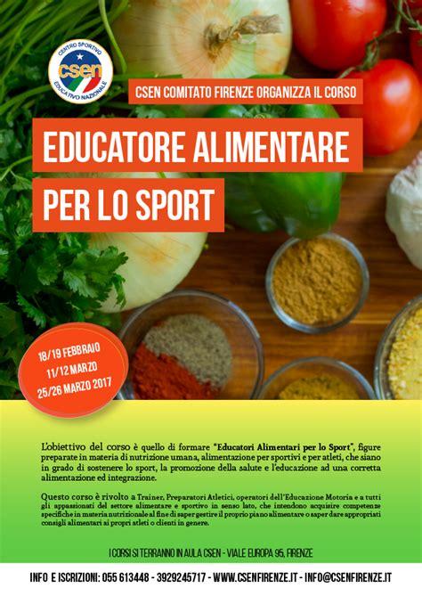 corso educatore alimentare corso educatore alimentare per lo sport edizione