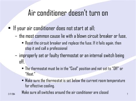 fix common air conditioner problems