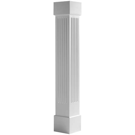 Home Depot Columns Ecenf Endura Craft Square Non Tapered Fluted Column W
