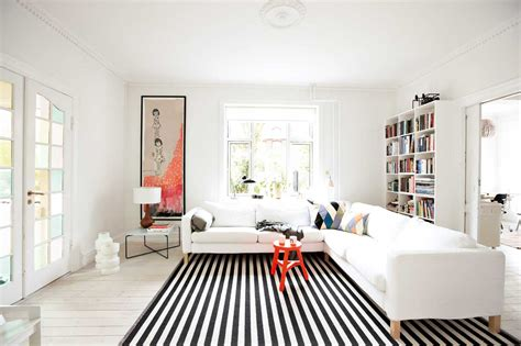 black and white living room rug broad stripe living room home decorating ideas