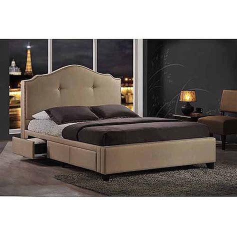 baxton studio king bed baxton studio armeena king modern storage bed beige